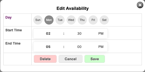 Availability Example